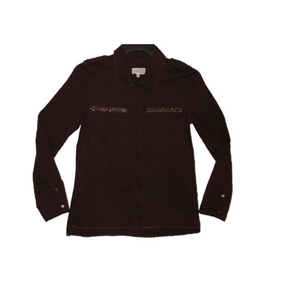 516e8298835 Jolt Women s Snap Close Burgundy Shirt   Jacket
